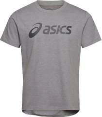 asics big logo tee t-shirts short-sleeved grå asics
