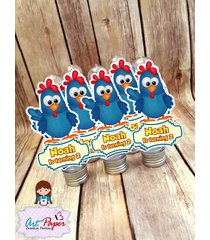personalized tubes chicken - set of 10 - lottie dottie chicken party favors