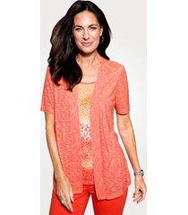 2-in-1-shirt mona apricot::oranje