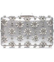 kopertówka srebrna z kryształami