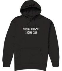 hybrid men's social distance social club hooded fleece sweatshirt