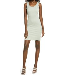 women's vero moda polly rib tank dress, size x-large - green