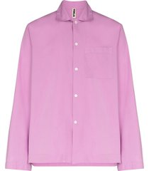 tekla long-sleeve pajama shirt - purple