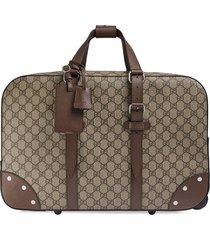 gucci globe-trotter gg suitcase - neutrals