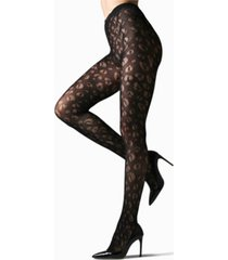 natori women's leopard net tights hosiery