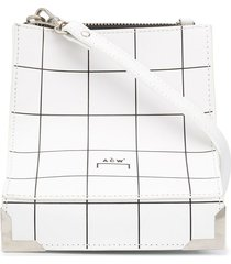 a-cold-wall* curved square print shoulder bag - white