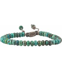 turquoise stacked bead bracelet