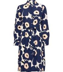 bettina pieni unikko dress knälång klänning blå marimekko