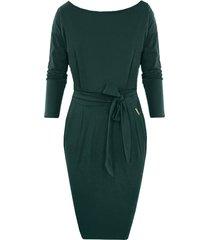 femme fatale jurk lang smaragdgroen