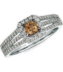 le vian women's 14k vanilla gold®, chocolate diamonds® & nude diamonds™ ring/size 7 - size 7