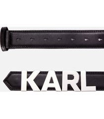 karl lagerfeld women's k/karl metal letters belt - black - l