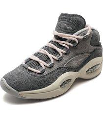 tenis basketball gris-rosa reebok question mid