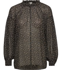 della blouse blouse lange mouwen zwart second female