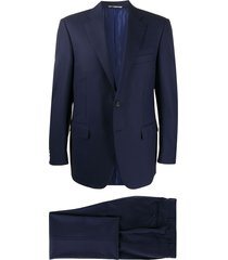 canali straight-leg two-piece suit - blue