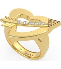 anillo across my heart dorado guess