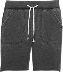 alternative apparel victory modern fit burnout french terry shorts charcoal