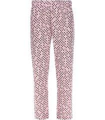 pantalón descanso puntos color rosado, talla l