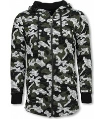 sweater tony backer army vest camouflage - long fit sweater -