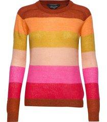colourful striped pullover gebreide trui multi/patroon scotch & soda