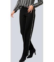 broek alba moda zwart::grijs::offwhite
