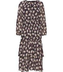 laurene flower jurk knielengte multi/patroon line of oslo