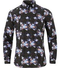skjorta jprblavincent flower shirt l/s