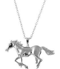 moda argento oro colore cavallo ciondolo collana donne maglione catena gioielli per le donne