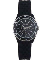 orologio so classy con cinturino in silicone, quadrante e ghiera grigio per uomo