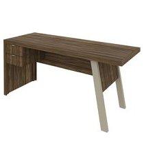 mesa para escrittório tecno mobili me4122 2 gavetas