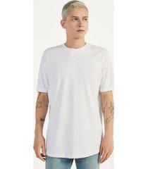 lang t-shirt met korte mouw