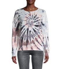 chance or fate women's tie-dye sweatshirt - white multi tie dye - size m