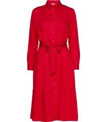 dresses light woven knälång klänning röd esprit casual