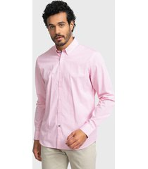 camisa casual print fucsia arrow