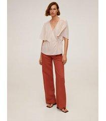 soepelvallende blouse met strik