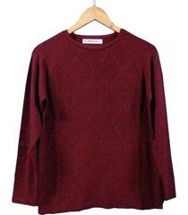 sweater bordó berkland rombito texturado