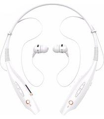 audifonos bluetooth inalámbricas con mic cancelación de ruido - blanco