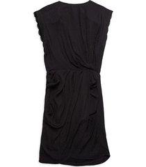 iro women's deodora faux-wrap dress - black - size 34 (2)