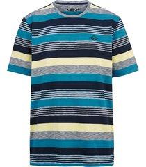 t-shirt men plus turkos::marinblå::gul