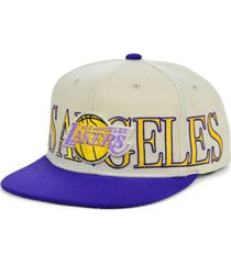 mitchell & ness los angeles lakers hardwood classic winners circle snapback cap