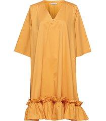 berle dress kort klänning orange holzweiler