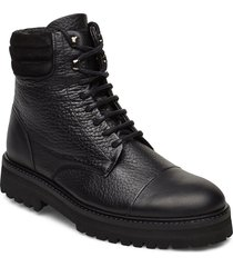 ave hiker combat boot shoes boots ankle boots ankle boots flat heel svart royal republiq