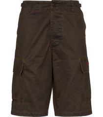032c wide-leg cargo shorts - brown