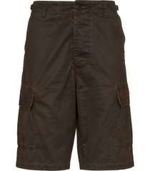 032c wide-leg cargo shorts - brown
