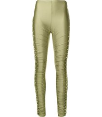 jean paul gaultier pre-owned braided lateral trousers - green