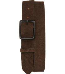 men's rag & bone rugged leather belt, size 38 - brown