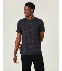 camiseta tradicional folhagem em délavé sustentável malwee preto - p