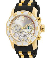 reloj invicta oro negro modelo 69ie para hombres, colección pro diver