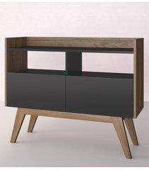 aparador buffet/bar aqua preto estilare móveis