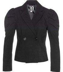blazer corto con maniche a palloncino (nero) - bpc selection
