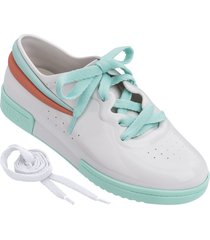 teni blanco verde rosa melissa sneaker  fila